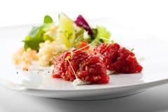 Βόειο κρέας Tartare Στοκ εικόνες με δικαίωμα ελεύθερης χρήσης
