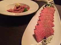 Βόειο κρέας Wagyu στο ιαπωνικό εστιατόριο Στοκ Εικόνες