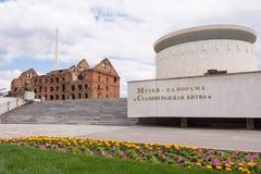 Βόλγκογκραντ Ρωσία - 11 Μαΐου 2017 Μύλος Gerhardt και ένα αντίγραφο της πηγής μνημείων Στοκ εικόνες με δικαίωμα ελεύθερης χρήσης