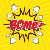 Βόμβα! διατύπωση Στοκ Φωτογραφίες