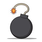 Βόμβα κινούμενων σχεδίων. Διανυσματική απεικόνιση Στοκ Φωτογραφίες
