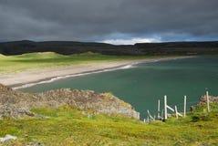 Βόρεια ακτή της Νορβηγίας το καλοκαίρι Στοκ φωτογραφία με δικαίωμα ελεύθερης χρήσης
