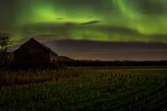 Βόρεια αυγή Borealis φω'των Στοκ φωτογραφία με δικαίωμα ελεύθερης χρήσης