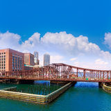 Βόρεια γέφυρα λεωφόρων της Βοστώνης στη Μασαχουσέτη Στοκ φωτογραφία με δικαίωμα ελεύθερης χρήσης