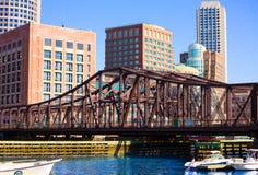 Βόρεια γέφυρα λεωφόρων της Βοστώνης στη Μασαχουσέτη Στοκ εικόνα με δικαίωμα ελεύθερης χρήσης