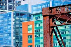 Βόρεια γέφυρα λεωφόρων της Βοστώνης στη Μασαχουσέτη Στοκ φωτογραφίες με δικαίωμα ελεύθερης χρήσης