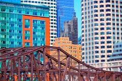 Βόρεια γέφυρα Μασαχουσέτη λεωφόρων της Βοστώνης Στοκ εικόνες με δικαίωμα ελεύθερης χρήσης