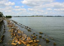 Βόρεια θάλασσα - δείτε από την ιστορική πόλη του ένταμ, προέλευση του διάσημου τυριού Edamer στοκ εικόνες με δικαίωμα ελεύθερης χρήσης