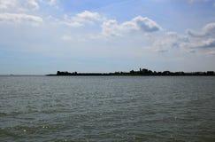 Βόρεια θάλασσα - δείτε από την ιστορική πόλη του ένταμ, προέλευση του διάσημου τυριού Edamer στοκ φωτογραφίες