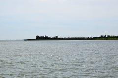 Βόρεια θάλασσα - δείτε από την ιστορική πόλη του ένταμ, προέλευση του διάσημου τυριού Edamer στοκ εικόνες