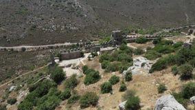 Βόρεια Κύπρος Αγίου Hilarion Castle απόθεμα βίντεο