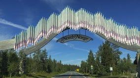 Βόρεια Νορβηγία συνόρων Στοκ Εικόνα