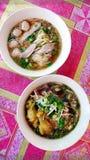Βόρεια ταϊλανδικά πιάτα σούπας νουντλς Στοκ εικόνες με δικαίωμα ελεύθερης χρήσης