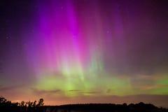 Βόρεια φω'τα, αυγή Borealis Στοκ φωτογραφίες με δικαίωμα ελεύθερης χρήσης