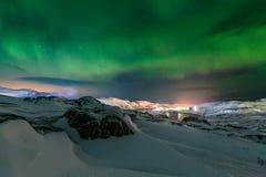 Βόρεια φω'τα επάνω από το φιορδ στη Νορβηγία Στοκ εικόνα με δικαίωμα ελεύθερης χρήσης