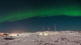 Βόρεια φω'τα στα χιονισμένα βουνά Νορβηγία φιλμ μικρού μήκους