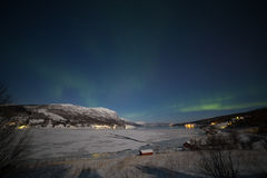 Βόρεια φω'τα στη Νορβηγία Στοκ εικόνα με δικαίωμα ελεύθερης χρήσης
