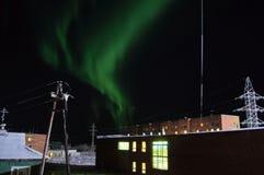 Βόρεια φω'τα στη Σιβηρία στοκ φωτογραφίες με δικαίωμα ελεύθερης χρήσης