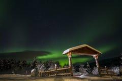 Βόρεια φω'τα στο εθνικό πάρκο Anderdalen Στοκ Εικόνα
