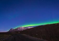 Βόρεια φω'τα το χειμώνα στοκ φωτογραφίες με δικαίωμα ελεύθερης χρήσης