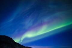 Βόρεια φω'τα Στοκ Φωτογραφία