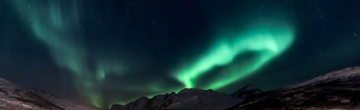 Βόρεια φω'τα Borealis αυγής στη βόρεια Νορβηγία Στοκ Εικόνα