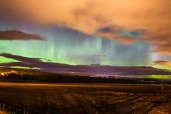 Βόρεια φω'τα borealis αυγής στη Σκωτία στοκ φωτογραφία