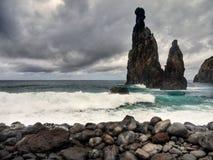 Βόρεια Coastline Ponta de Sao Lourenco, Μαδέρα, Πορτογαλία στοκ φωτογραφία με δικαίωμα ελεύθερης χρήσης