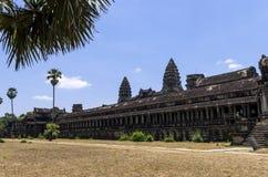 Βόρειοι τοίχοι Angkor Wat Στοκ Φωτογραφίες