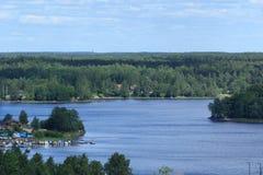 Βόρειο αγροτικό τοπίο το καλοκαίρι Στοκ Φωτογραφία