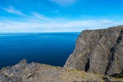 Βόρειο ακρωτήριο σε Finnmark, βόρεια Νορβηγία Στοκ Εικόνα