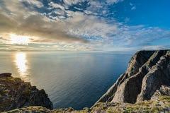 Βόρειο ακρωτήριο σε Finnmark, βόρεια Νορβηγία Στοκ Εικόνες