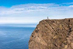Βόρειο ακρωτήριο σε Finnmark, βόρεια Νορβηγία Στοκ εικόνα με δικαίωμα ελεύθερης χρήσης