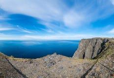 Βόρειο ακρωτήριο σε Finnmark, βόρεια Νορβηγία Στοκ εικόνες με δικαίωμα ελεύθερης χρήσης