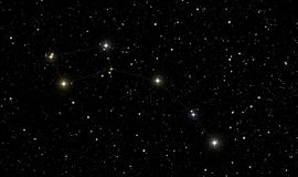 Βόρειο αστέρι στον αστερισμό του ανηλίκου Ursa Στοκ εικόνες με δικαίωμα ελεύθερης χρήσης