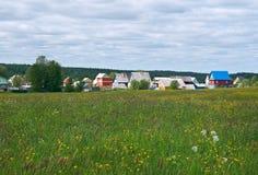 βόρειο ρωσικό χωριό Στοκ Εικόνες