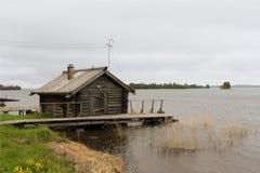 Βόρειο ρωσικό χωριό Στοκ Φωτογραφίες