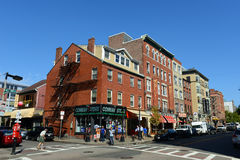 Βόρειο τέλος της Βοστώνης, Μασαχουσέτη, ΗΠΑ Στοκ εικόνα με δικαίωμα ελεύθερης χρήσης