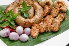 Βόρειο ταϊλανδικό λουκάνικο ή sai-Aua στοκ φωτογραφία