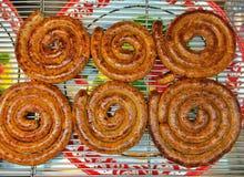 Βόρειο ταϊλανδικό πικάντικο λουκάνικο Στοκ φωτογραφία με δικαίωμα ελεύθερης χρήσης