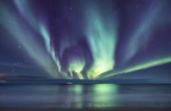 Βόρειο φως επάνω από τον ωκεανό Στοκ φωτογραφίες με δικαίωμα ελεύθερης χρήσης