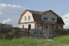 Βόρειο χωριό, Αρχάγγελσκ oblast Στοκ Φωτογραφία