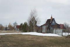 Βόρειο χωριό στην περιοχή του Αρχάγγελσκ Στοκ εικόνες με δικαίωμα ελεύθερης χρήσης