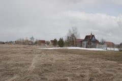 Βόρειο χωριό στην περιοχή του Αρχάγγελσκ Στοκ φωτογραφίες με δικαίωμα ελεύθερης χρήσης