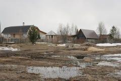 Βόρειο χωριό στην περιοχή του Αρχάγγελσκ Στοκ Εικόνες