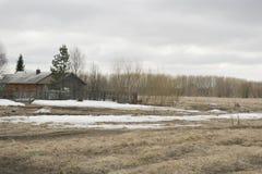 Βόρειο χωριό στην περιοχή του Αρχάγγελσκ Στοκ Φωτογραφίες