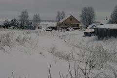 Βόρειο χωριό στη Ρωσία Στοκ Εικόνα