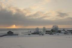 Βόρειο χωριό στη Ρωσία Στοκ Εικόνες