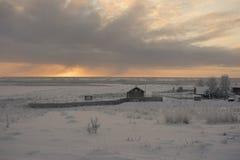 Βόρειο χωριό στη Ρωσία Στοκ φωτογραφία με δικαίωμα ελεύθερης χρήσης