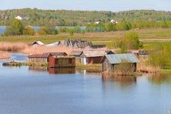 βόρειο χωριό Στοκ εικόνες με δικαίωμα ελεύθερης χρήσης